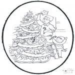 Basteln Stechkarten - Weihnachtsbaum Schmücken