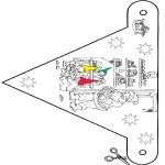Ausmalbilder Weihnachten - Weihnachtsfähnchen 9