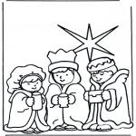 Ausmalbilder Weihnachten - Weihnachtsgeschichte 10