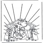 Ausmalbilder Weihnachten - Weihnachtsgeschichte 11