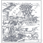 Ausmalbilder Weihnachten - Weihnachtsgeschichte 12