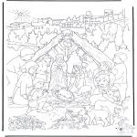 Ausmalbilder Weihnachten - Weihnachtsgeschichte 14