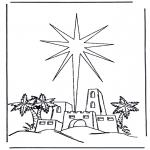 Ausmalbilder Weihnachten - Weihnachtsgeschichte 6