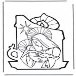 Ausmalbilder Weihnachten - Weihnachtsgeschichte 7