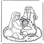 Ausmalbilder Weihnachten - Weihnachtsgeschichte 9