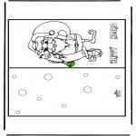 Ausmalbilder Weihnachten - Weihnachtskarte 16