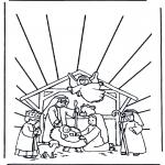Bibel Ausmalbilder - Weihnachtskrippe 1