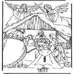 Bibel Ausmalbilder - Weihnachtskrippe 3