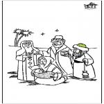 Bibel Ausmalbilder - Weihnachtskrippe 4