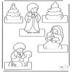 Ausmalbilder Weihnachten - Weihnachtskrippe basteln 2