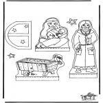 Ausmalbilder Weihnachten - Weihnachtskrippe Teil 1