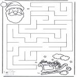 Ausmalbilder Weihnachten - Weihnachtslabyrinth 2
