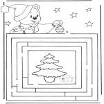 Ausmalbilder Weihnachten - Weihnachtslabyrinth 3