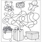 Ausmalbilder Weihnachten - Weihnachtslabyrinth 4