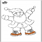 Ausmalbilder Weihnachten - Weihnachtsmann 13