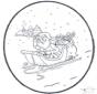 Weihnachtsmann Stechkarte