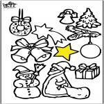 Ausmalbilder Weihnachten - Weihnachtsschmuck 2