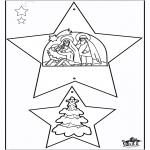 Ausmalbilder Weihnachten - Weihnachtsschmuck - Bibel 1