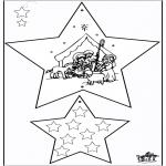 Ausmalbilder Weihnachten - Weihnachtsschmuck - Bibel 3