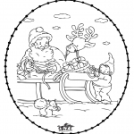 Ausmalbilder Weihnachten - Weihnachtsstickkarte 24