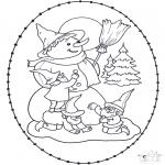 Ausmalbilder Weihnachten - Weihnachtsstickkarte11