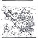 Bibel Ausmalbilder - Weisen aus dem Osten 1