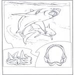 Ausmalbilder Tiere - weisser Menschenhai