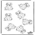 Malvorlagen Basteln - Welche is anders 101 Dalmatiner