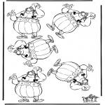 Malvorlagen Basteln - Welche ist anders, Obelix