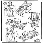 Basteln Stechkarten - Welcher Sankt ist anders?