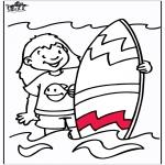 Allerhand Ausmalbilder - Wellenreiten