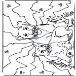 Ausmalbilder Tiere - Welpen