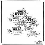 Malvorlagen Basteln - Wieviel Boote