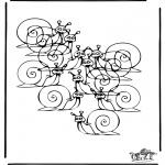 Malvorlagen Basteln - Wieviel Schnecken