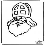 Basteln Stechkarten - Window color Sankt Nikolaus