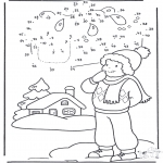 Malvorlagen Winter - Winter Malen nach zahlen 1