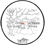 Malvorlagen Winter - Winter prikkaart 4