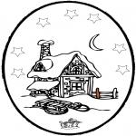 Malvorlagen Winter - Winter Stechkarte 5