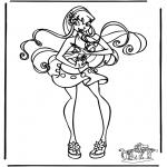 Ausmalbilder Comicfigure - Winx Club 12