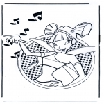 Ausmalbilder Comicfigure - Winx club 3