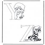 Allerhand Ausmalbilder - Y und Z