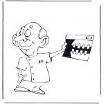 Allerhand Ausmalbilder - Zahnarzt mit Foto