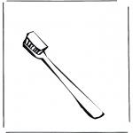 Allerhand Ausmalbilder - Zahnbürste