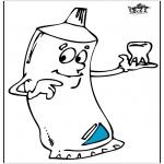 Allerhand Ausmalbilder - Zahnpasta