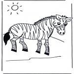 Ausmalbilder Tiere - Zebra