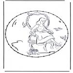 Basteln Stickkarten - Zeichentrickfigur Stickkarte 3