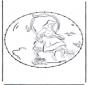 Zeichentrickfigur Stickkarte 3