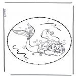 Basteln Stickkarten - Zeichentrickfigur Stickkarte 5