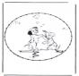Zeichentrickfigur Stickkarte 6