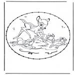 Basteln Stickkarten - Zeichentrickfigur Stickkarte 9